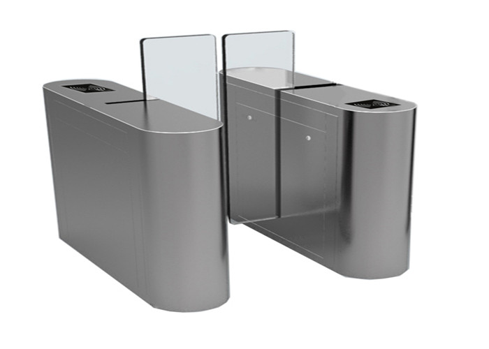 Anti climbing Access Control Turnstiles with acrylic panel , 1.6 meter height